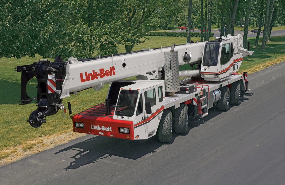 Large crane on the road